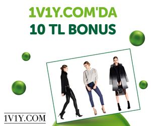 1V1Y.com'da 10 TL bonus