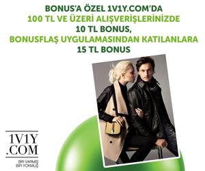 1v1y.com'da 10 TL BONUS,<br/> BonusFlaş'tan katılanlara 15 TL BONUS!
