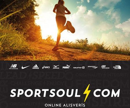 Sportsoul Mağazaları ve www.sportsoul.com' da 100 TL ve üzeri alışverişlerde %15 indirim