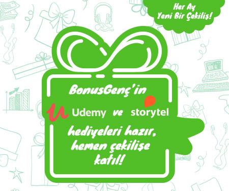 Bonus Genç'in Udemy ve Stroytel hediyeleri hazır, hemen çekilişe katıl!