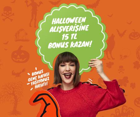 Bonus Genç Kafası ile Halloween tarzını konuştur, 15 TL bonusu kap!