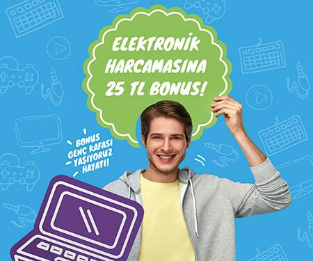Bonus Genç Kafası ile e-ticaret elektronik alışverişine 25 TL bonus kazan!