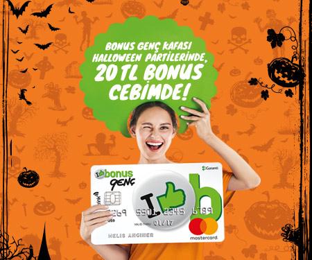 Bonus Genç Kafası Halloween'de 20 TL bonus kazandırıyor!