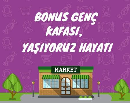 Final döneminde market harcamana 15 TL bonus!