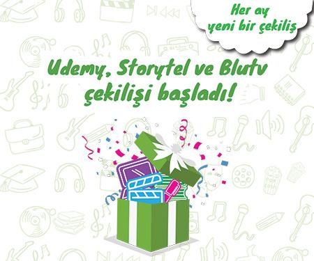 BluTv, Storytel ve Udemy hediyelerin hazır, hemen çekilişe katıl!