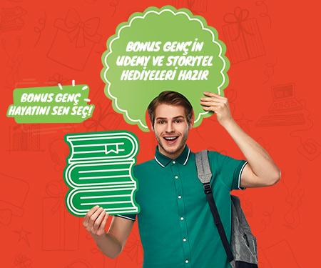 Bonus Genç'in Udemy ve Storytel hediyeleri hazır, hemen çekilişe katıl!