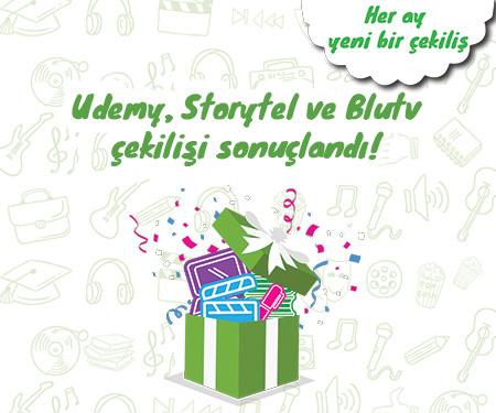 Mayıs ayı Bonus Genç Blutv, Udemy ve Storytel Hediye Çekilişi Sonuçlandı!