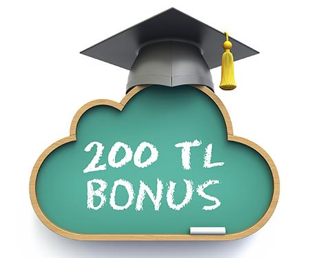 20.000 TL ve üzeri eğitim harcamanıza 200 TL bonus!