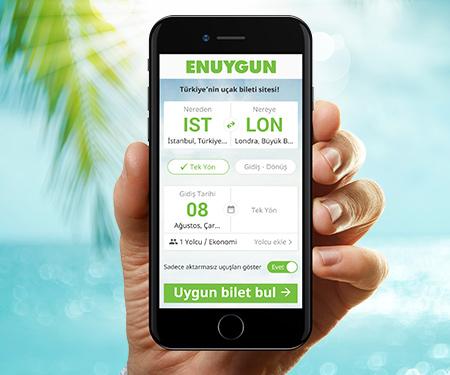 GarantiPay ile www.enuygun.com'da 30 TL bonus!