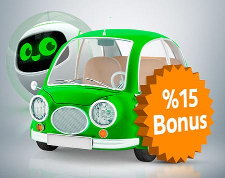 Kazançlı Kasko'da  %15 Bonus