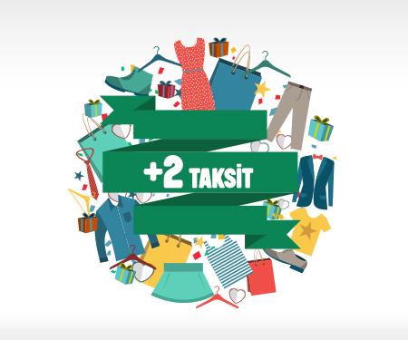 Giyim alışverişlerinize<br> ücretsiz +2 taksit!