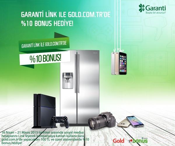 Garanti Link ile Gold.com.tr'de %10 Bonus Hediye!