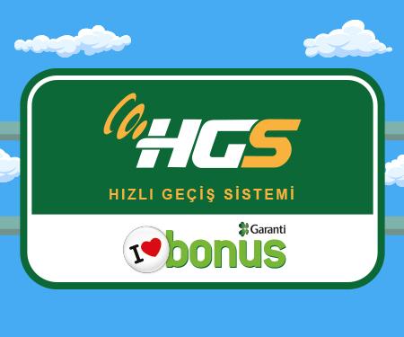 Bonus'a bağlı HGS alımına 30 TL bonus!