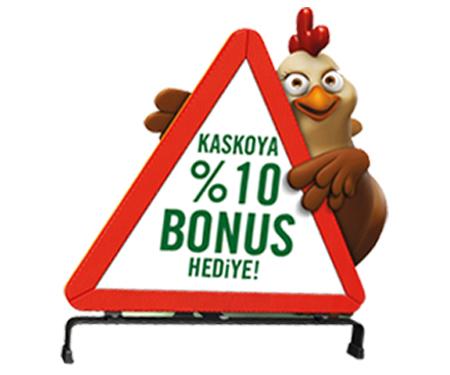 Kaskosunu Garanti BBVA'dan yaptıran müşterilerimize %10 bonus hediye.