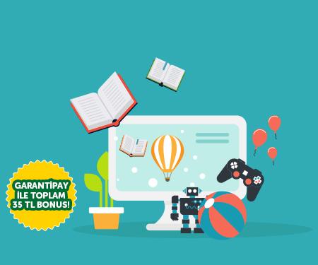 İnternetten yapacağınız kitap ve oyuncak alışverişinize toplam 30 TL bonus!