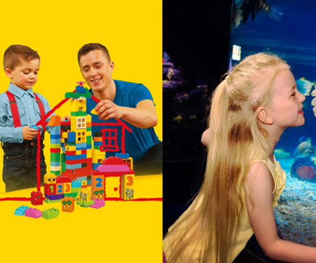 LEGOLAND® Discovery Centre ve SEA LIFE Akvaryum ziyaretlerinizde 1 Yetişkin biletine 1 Çocuk bileti bedava!