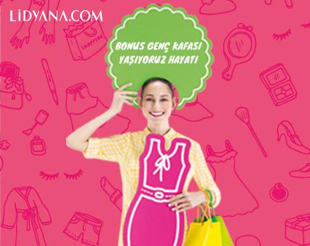 Bonus Genç kafası giyinirim, Lidyana'da <br>%15 indirimliyim!