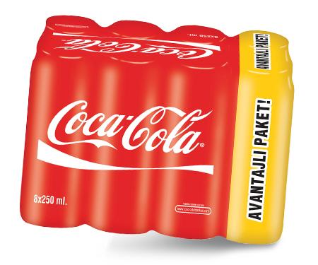 BonusFlaş'a özel Migros Sanal Market'te Coca-Cola 8X250ml sadece 3TL!