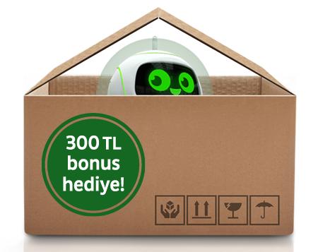 """İlk evi için konut kredisi kullanana <br> <span class=""""big"""">300 TL bonus!</span>"""