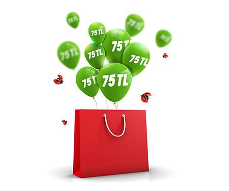 n11.com'da GarantiPay'e özel 75 TL'ye varan n11 bonus