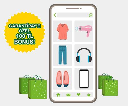 Onlıne giyim ve elektronik <br> alışverişlerinize 80 TL bonus !
