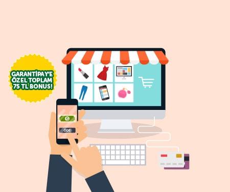 Online alışverişlerinize toplam 60 TL bonus!