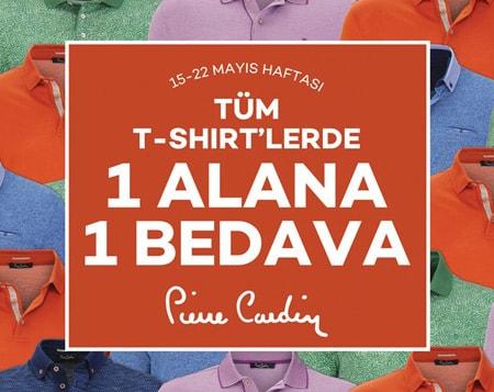 Pierre Cardin'de tüm t-shirt'lerde 1 alana 1 bedava