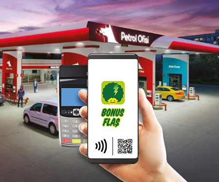 Petrol Ofisi'nde mobil veya QR ile ödemeye ekstra 10 TL bonus!