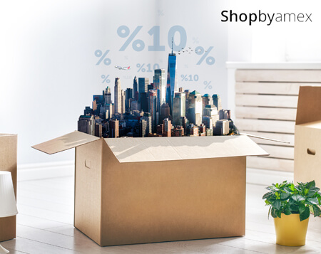 ShopByAmex'te %10 indirim fırsatı!
