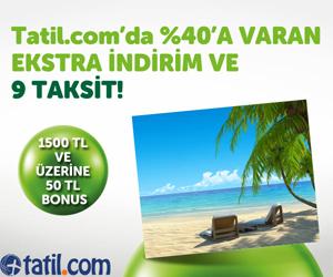 Tatil.com'da %40'a varan indirimler, 9 taksit ve 50 TL BONUS