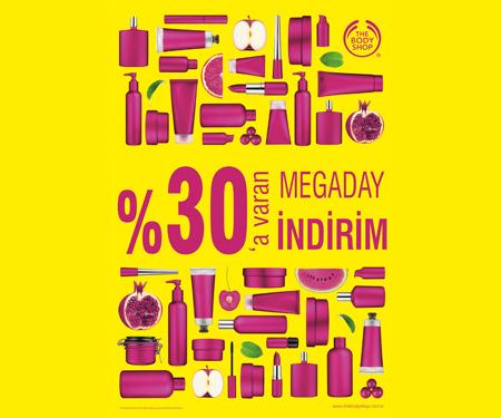 "The Body Shop'ta %30'a varan indirime ek<br/> <span class=""big"">%10 indirim</span>"