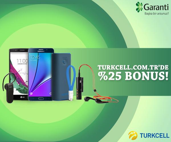 Turkcell.com.tr'de %25 Bonus!