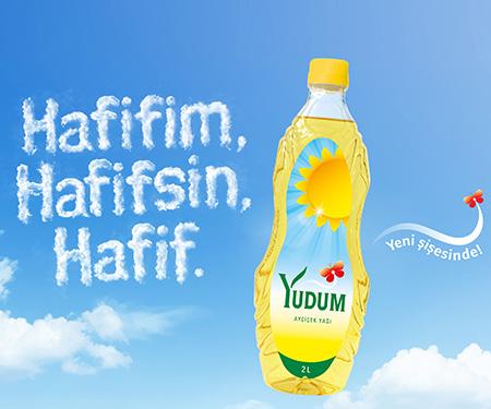 Kampanyaya dahil marketlerde 75 TL ve üzeri market harcamasına 2 litrelik Yudum ayçiçek yağı 12,9 TL